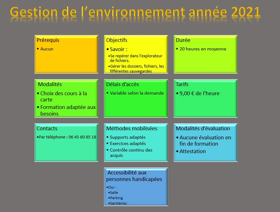 SmartArt Environnement